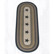 Earth Rugs OP-99 Stars Oval Patch 2 Feet X 6 Feet