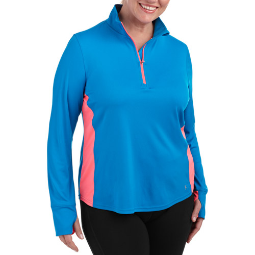 Danskin Now Women's 1/4 Zip Performance Pullover With Wicking
