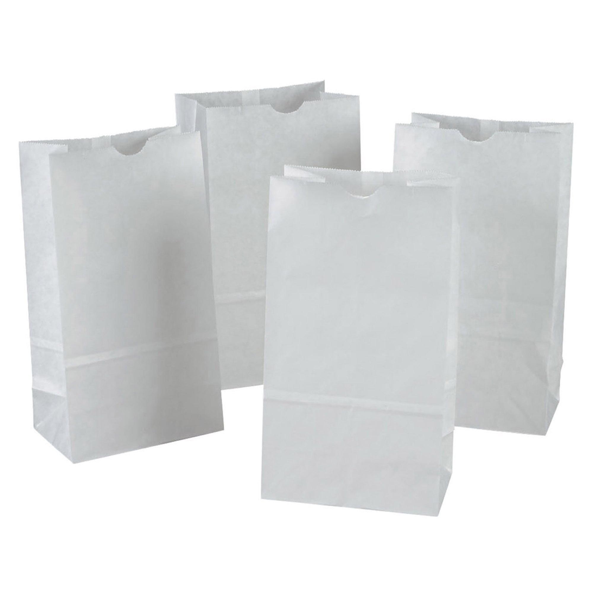 100 Paper Bags Paper Bags Paper Carrier Bags Bag White 22x10x28 cm 70628
