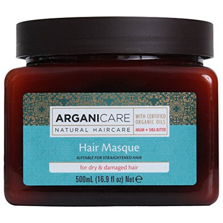 Arganicare Restoring Hair Mask for Dry and Damaged Hair Enriched with Organic Argan Oil and Shea Butter. 16.9 fl.