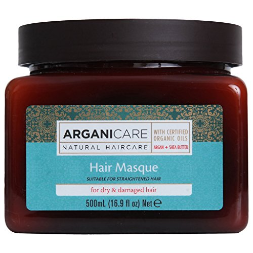 Arganicare Restoring Hair Masque for Dry and Damaged Hair Enriched with Organic Argan Oil and Shea Butter. 16.9 fl. Oz.