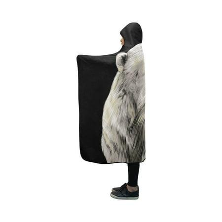 HATIART Polar Bear Head Hooded Blanket Pilling Polar Fleece Hooded Throw Wrap 40x50 inch - image 2 de 3