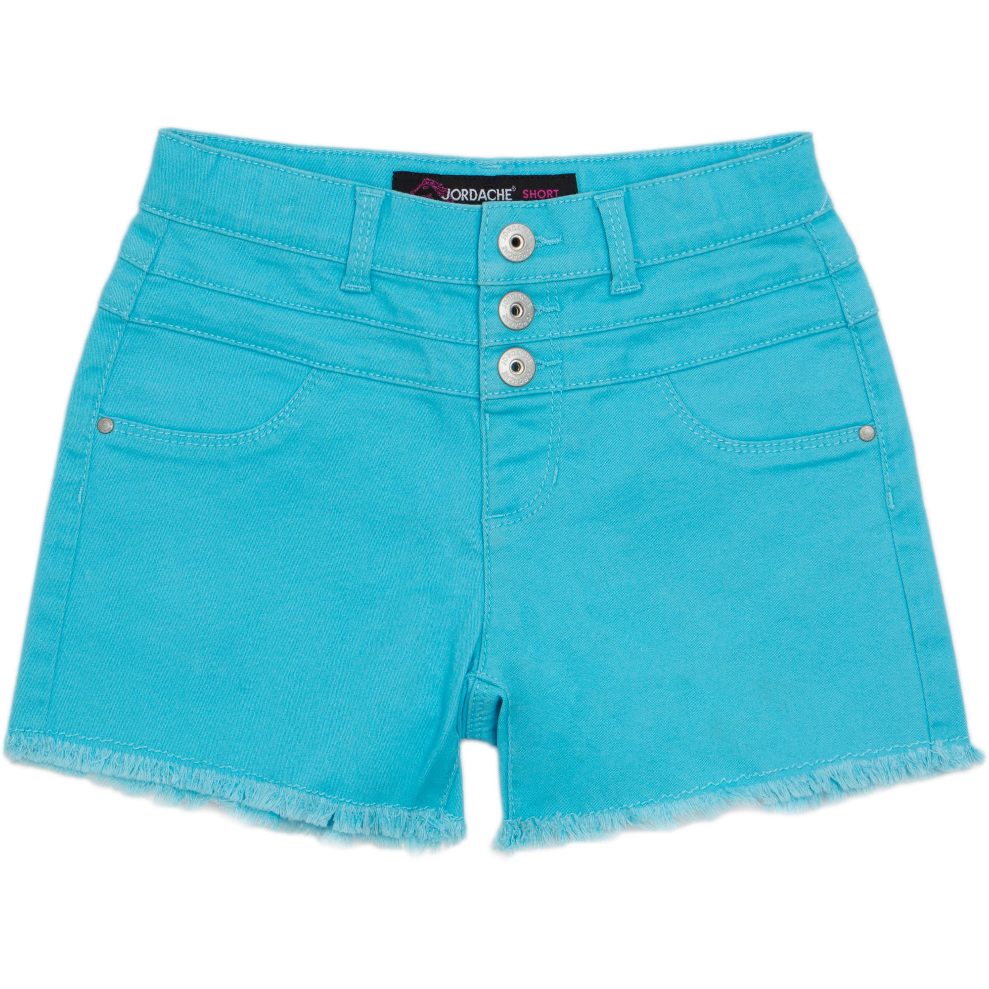 Jordache Girls' Hi Waisted Frayed Hem Denim Shorts