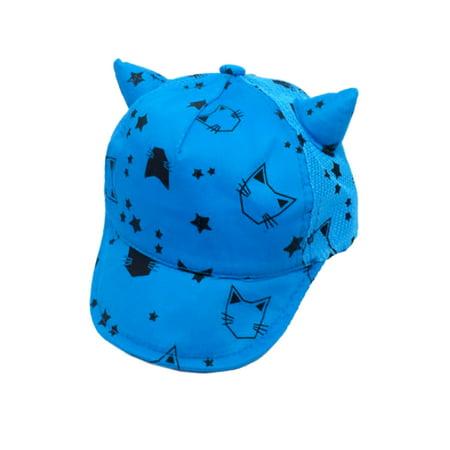 StylesILove Unisex Baby Child Baseball Cap with Cute 3D Cat Ears (Blue)](Baseball Cap With Cat Ears)