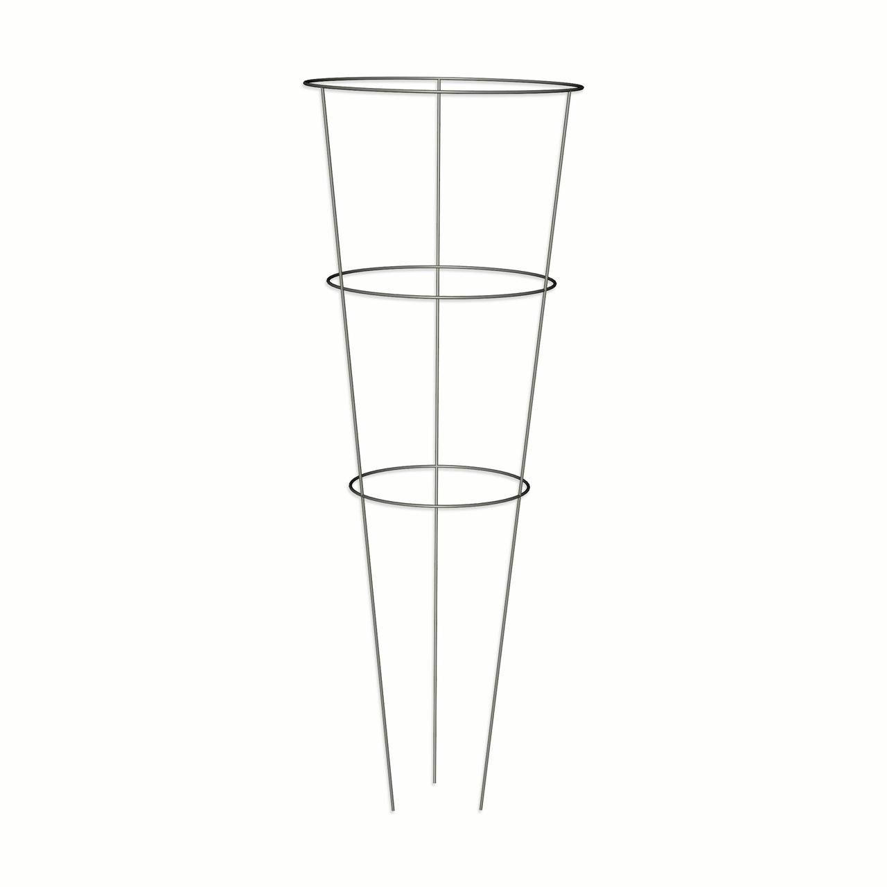 "Galvanized Tomato Cage, 33"" X 12"", 3 Rings And 3 Legs by Panacea Products"