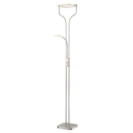 Lite Source Ls 83068 Zale 2 Light 73 1 2  High Integrated Led Floor Lamp With Ac