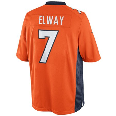 John Elway Unsigned Denver Broncos Orange Nike Limited Jersey Size Medium