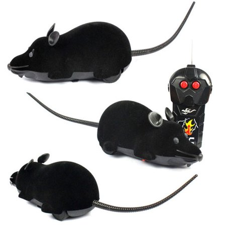 Voberry Scary Rc Remote Controller Simulation Plush Mouse Mice Kid Toy Gift Bk