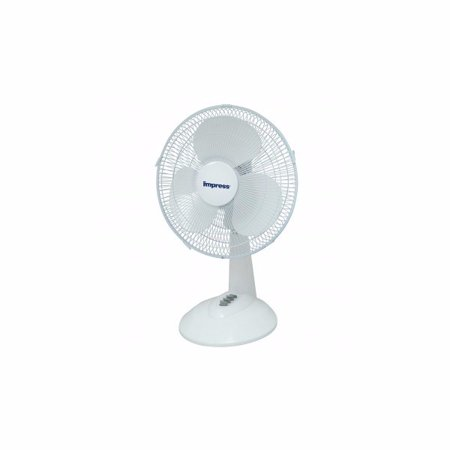 3 Speed Oscillating Table - Impress 12 Inch 3 Speed Oscillating Table Fan- White
