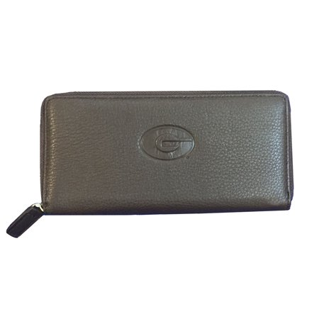 Canyon Outback Leather University Of Georgia Zip Wallet, Brown
