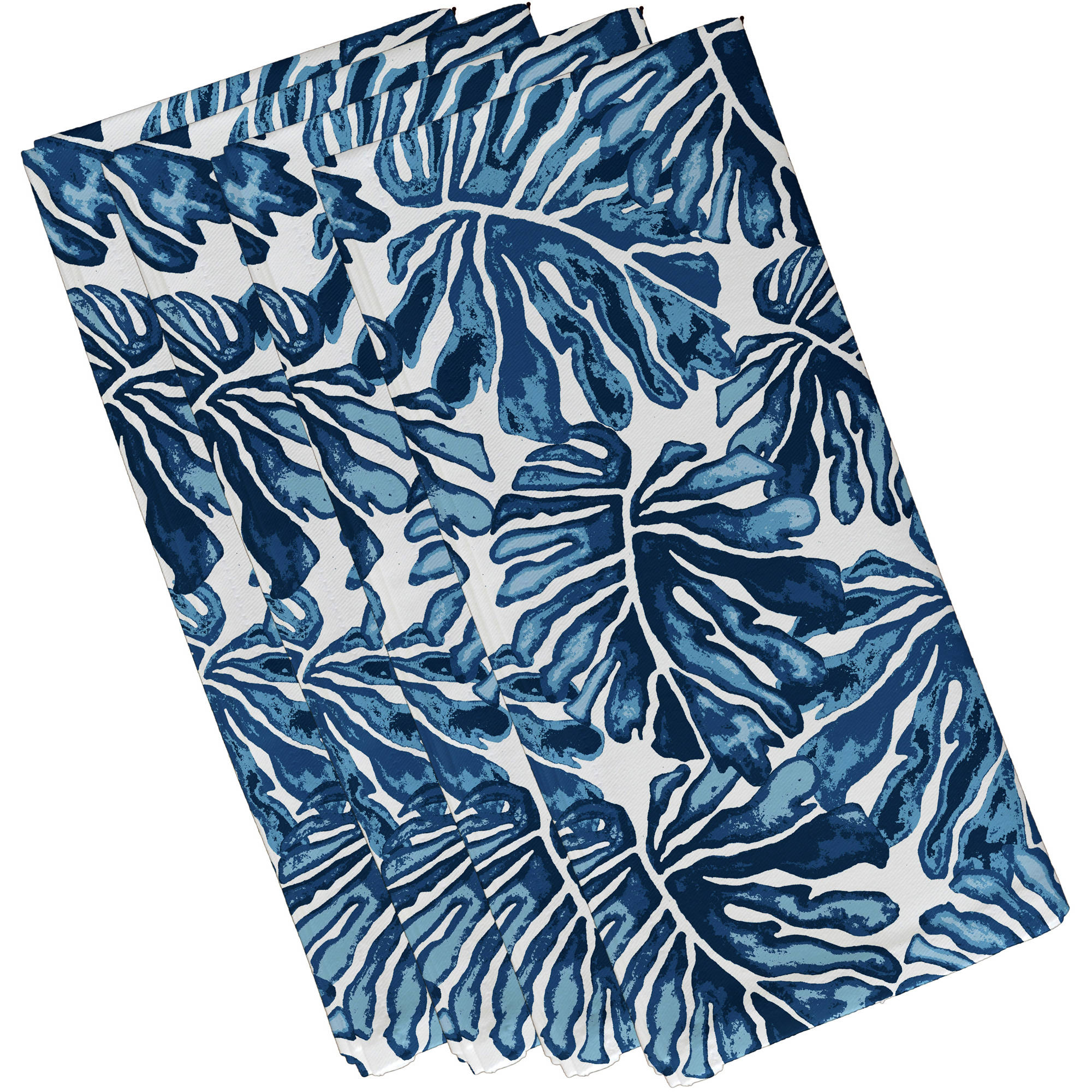 "Simply Daisy 19"" x 19"" Palm Leaves Floral Print Napkin (Set of 4)"