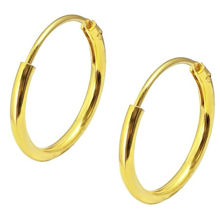 Earrings For Kids (18k Yellow Gold Plated Sterling Silver 1/2