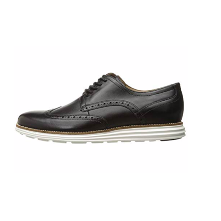 Cole Haan Original Grand Shortwing Black Leather/White Oxford Size
