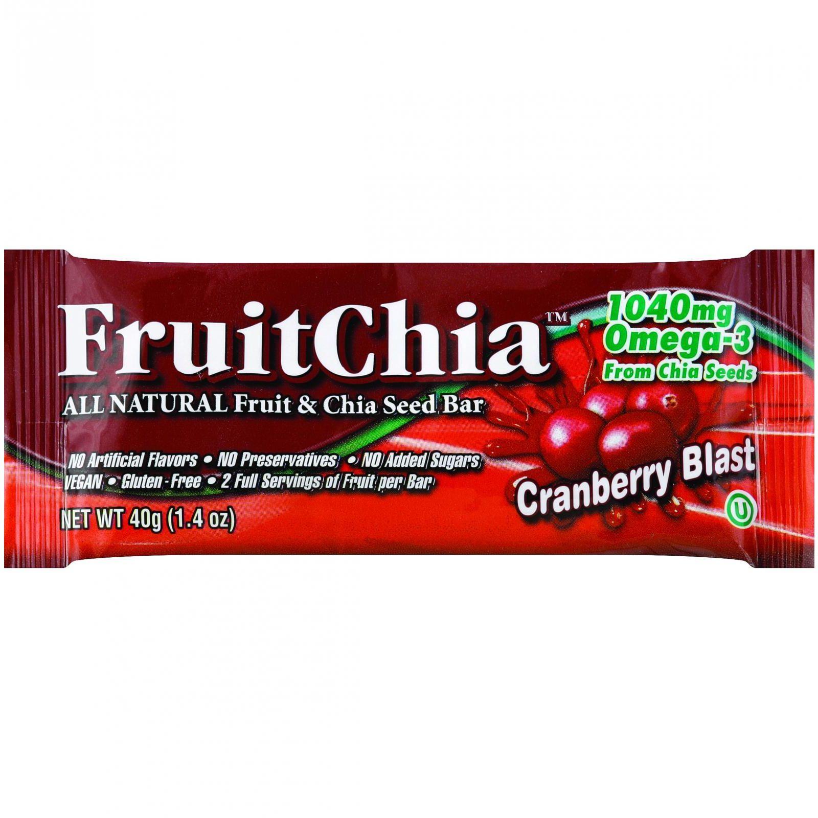 Fruit Chia Bar - Cranberry Blast - 1.4 oz Bars - Case of 24