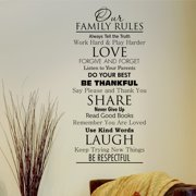 Belvedere Designs LLC Classic Family Rules  Wall Quotes  Decal