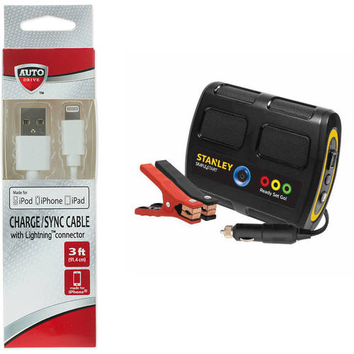 Stanley Simple Start Lithium-Ion Battery Charger/Jumper with *Bonus* USB Cable Bundle