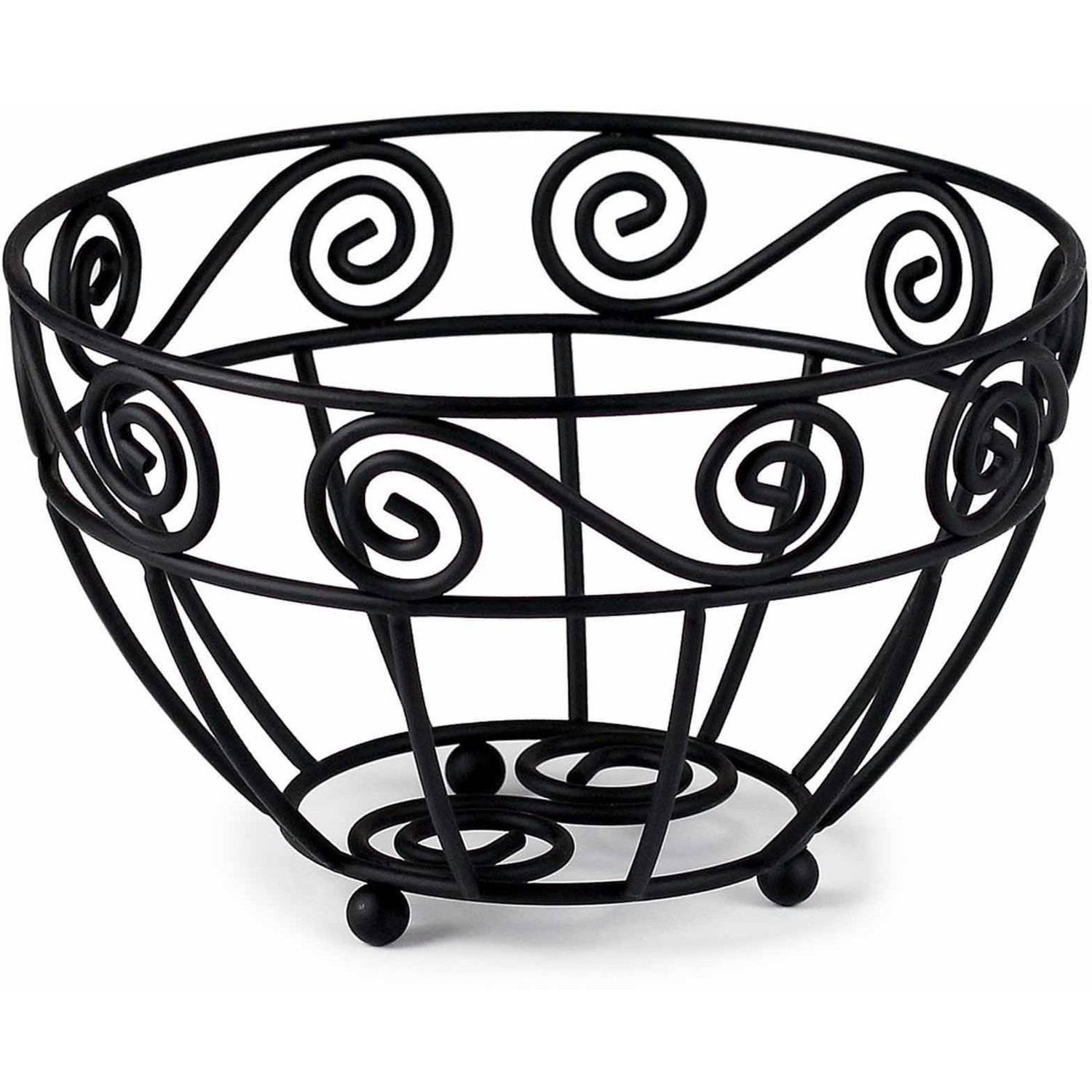Spectrum Scroll Fruit Bowl, Mini, Black