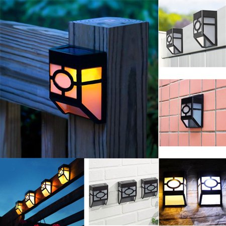 Outdoor Solar Wall Lights, EpicGadget Solar Led Waterproof Lighting for Deck, Fence, Patio, Front Door, Stair, Landscape, Yard and Driveway Path (Warm White) ()