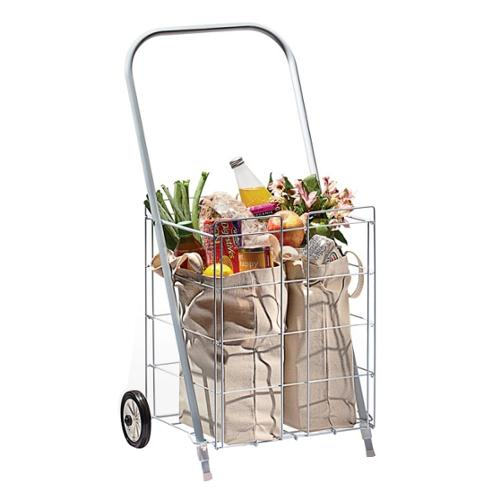 Homz 2-Wheel Small Capacity Tote Cart, White
