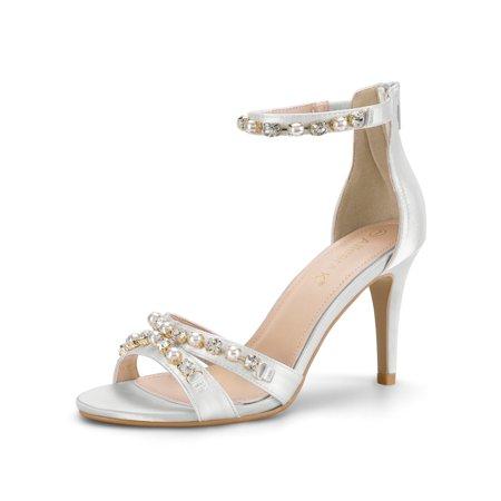 Women's Pearls Stiletto Back Zipper (Pearl Stiletto)