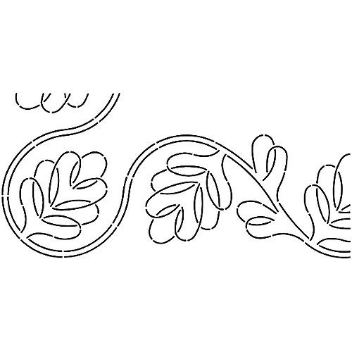 "Sten Source Quilt Stencils By Pepper Cory, 7"" C. L. Blackberry Vine Border"