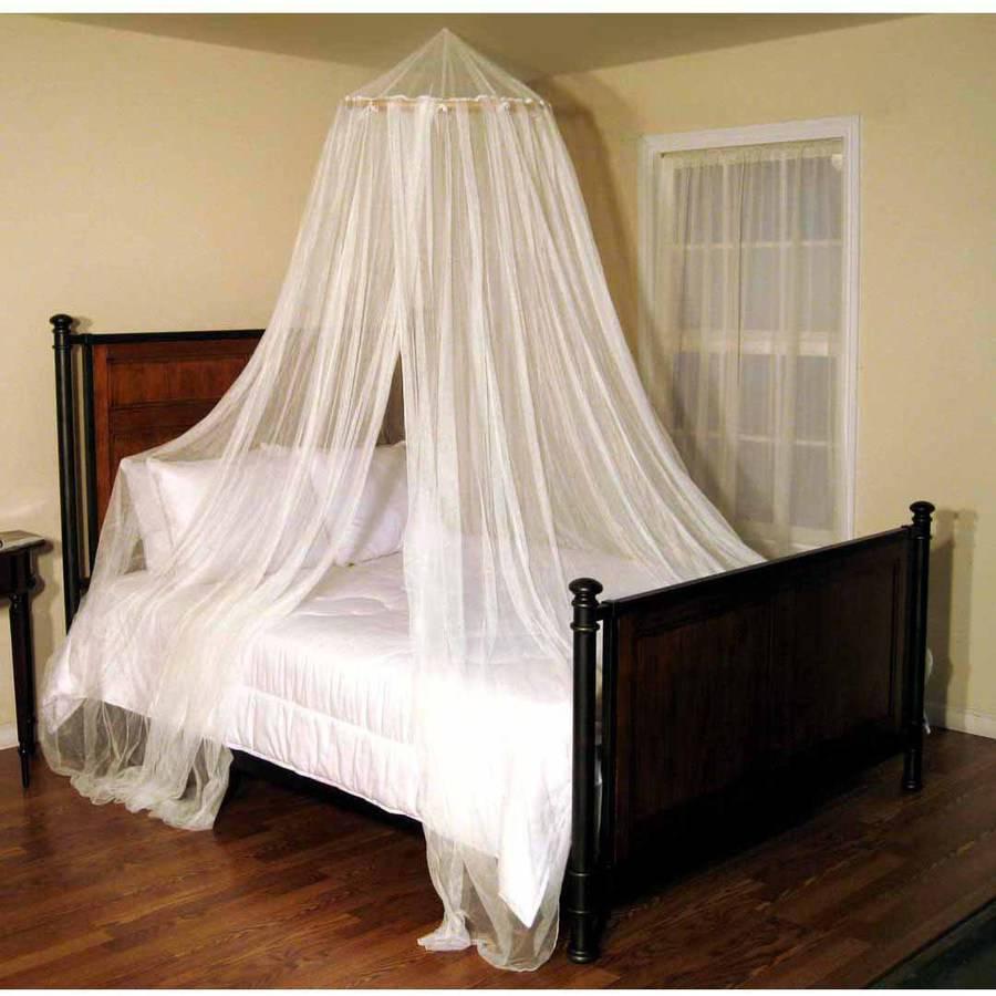 Oasis Round Hoop Sheer Bed Canopy