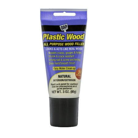 DAP Plastic Wood Latex Based Wood Filler, 3 oz, Natural Squeeze