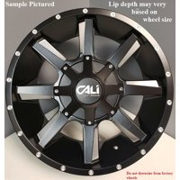 """4 Cali Off-Road Busted 20x9 8x180 0mm Black/Milled Wheels Rims 20"""" Inch"""