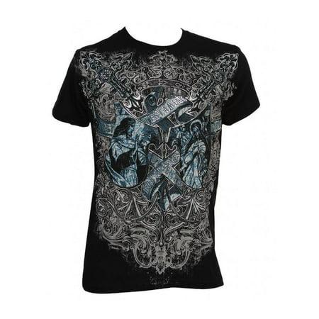Hardcore Mma T-shirt (Konflic Men's Los Angeles Testament MMA Muscle T-Shirt)