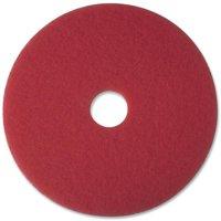 3M, MMM08387, Red Buffer Pads, 5 / Carton, Red
