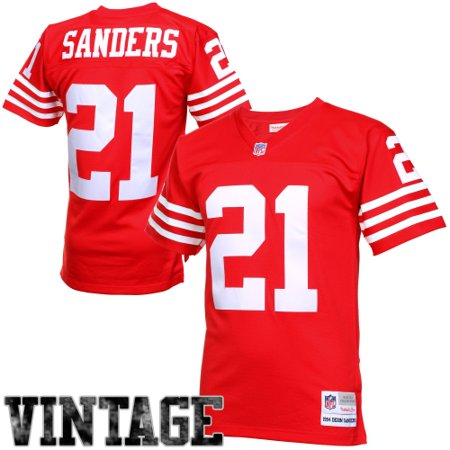 buy online d295b a390e Deion Sanders San Francisco 49ers Mitchell & Ness Retired Player Vintage  Replica Jersey - Scarlet