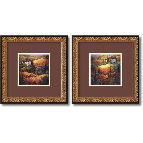 Amanti Art 'Tuscany' by Nancy O'Toole 2 Piece Framed Painting Print Set