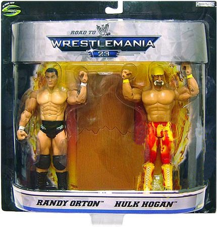 WWE Wrestling Road to WrestleMania 23 Series 1 Randy Orton Vs. Hulk Hogan Action Figure 2-Pack