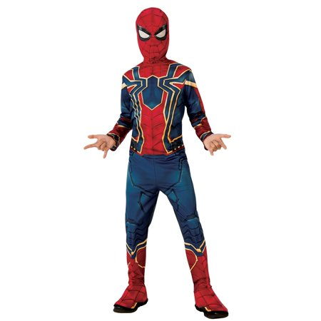 Ugly Fat Halloween Costumes (Marvel Avengers Infinity War Iron Spider Boys Halloween)