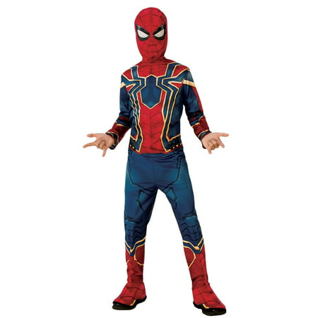 Marvel Avengers Infinity War Iron Spider Boys Halloween - Mustard Bottle Halloween Costume