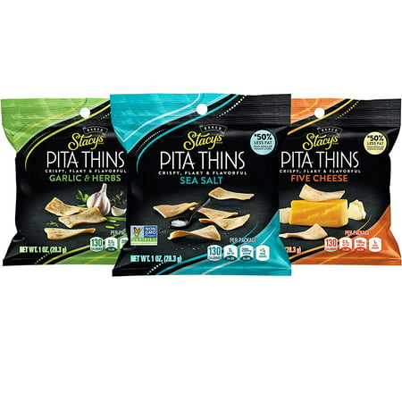 Stacy's Pita Thins, 3 Flavor Variety Pack, 1 oz Bags, 24