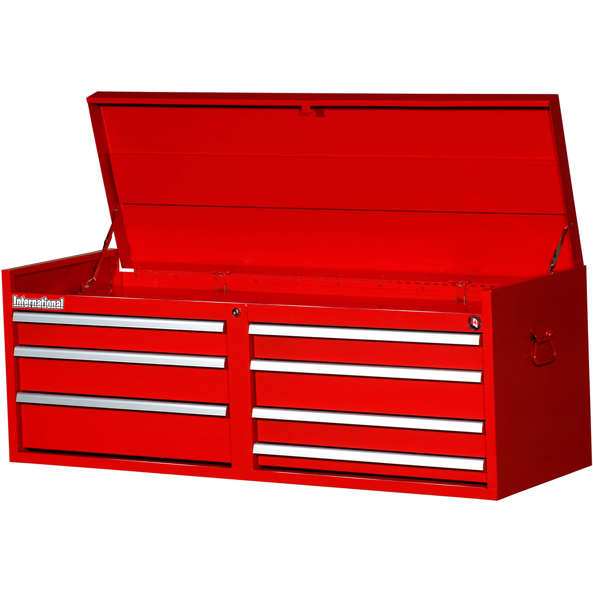 "International Workshop Series 54"" 7-Drawer Ball Bearing Slides Top Chest, Red"