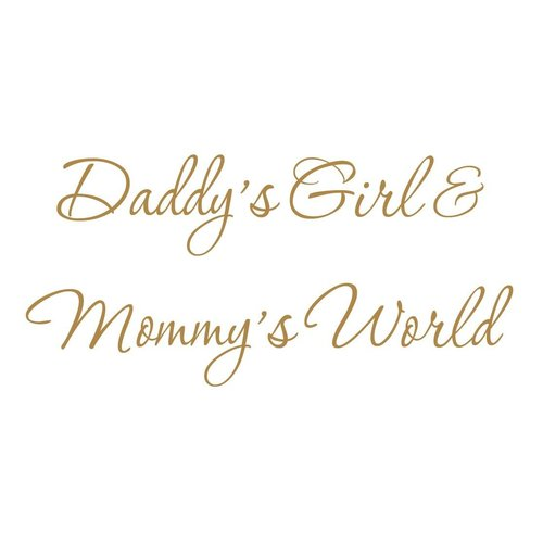 Zoomie Kids Hutchens Daddy's Girl and Mommy's World Black Nursery Wall Decal