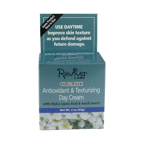 Reviva Labs Antioxidant And Texturizing Organic Day Cream With Alpha Lipoic Acid - 2 Oz, 6 Pack