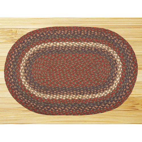 Earth Rugs Burgundy/Gray Braided Area Rug