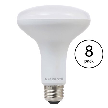 Sylvania BR30 65W Energy Saving Soft White 2700K LED Flood Light Bulb (8 Pack)