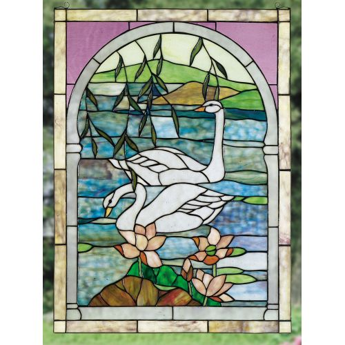 Meyda Tiffany 23868 Stained Glass Tiffany Window from the Water Flowers Collection by Meyda Tiffany
