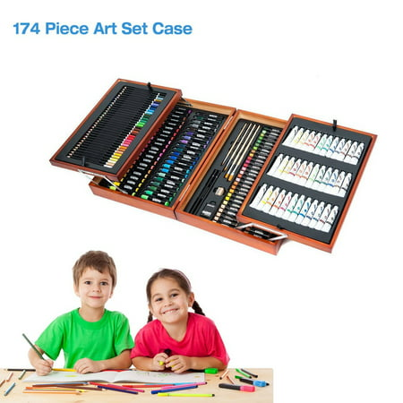 Colorful 174 piece Art Kit Set Pencils Pastels Painting for  School Kids Artist Case Drawing Artist Tools Drawing Tools Art Tools Studio Essentials Mixed Media Art Set Case
