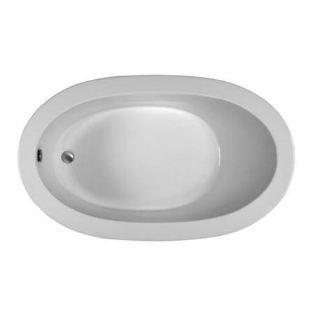 Reliance Baths R6036ODIS-W Oval 60 x 36 in.Soaking Bathtub With End Drain, White -