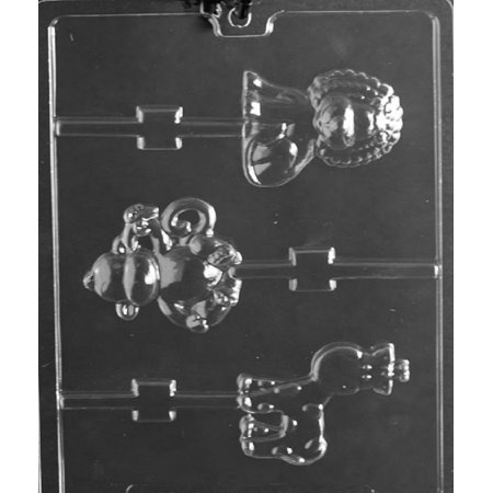 - Grandmama's Goodies A151 Monkey Giraffe Lion Lollipop Chocolate Candy Soap Mold with Exclusive Molding Instructions