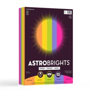 "Astrobrights Color Paper, 8.5"" x 11"", 24 lb/ 89 gsm, ""Happy"" 5-Color Assortment, 500 Sheets"