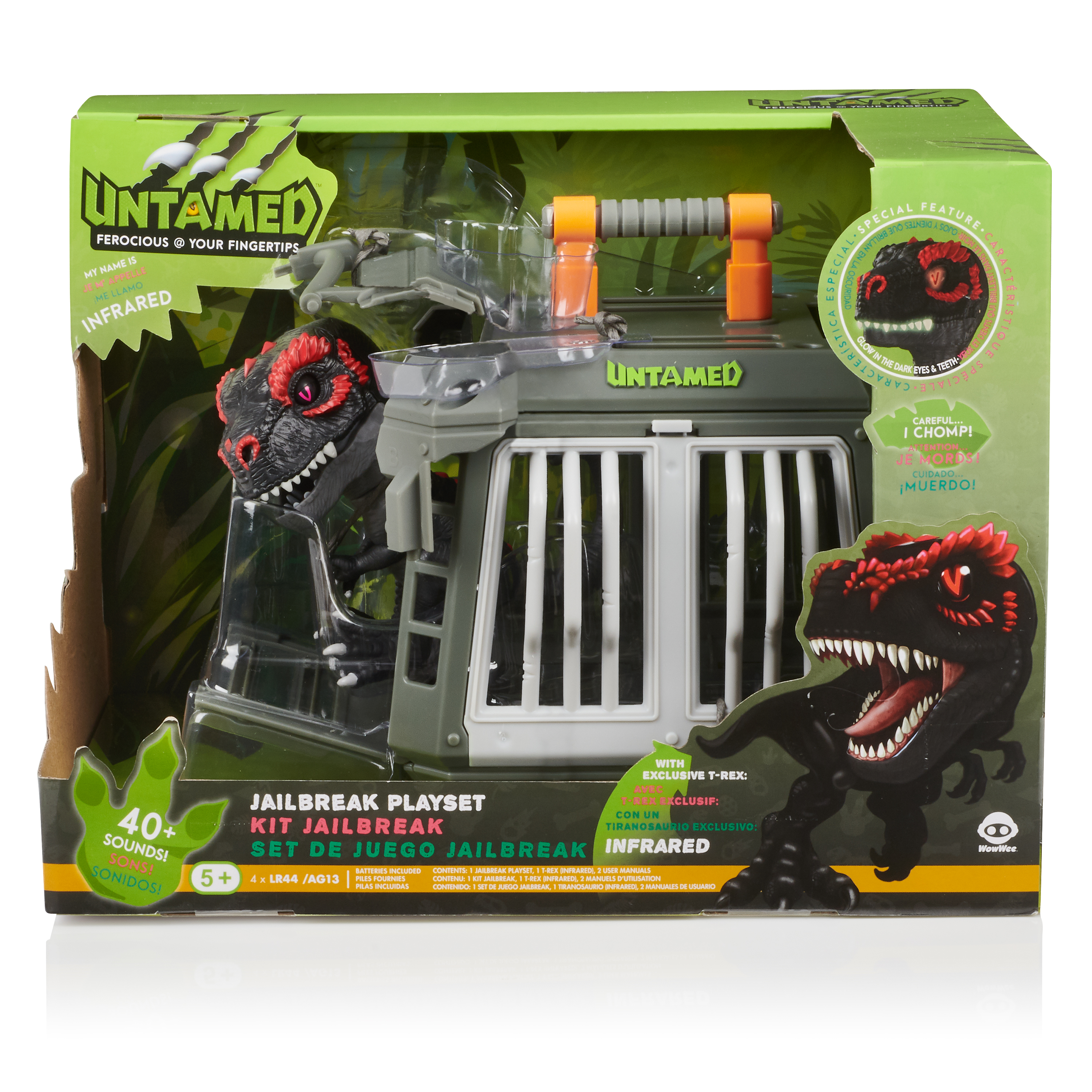 "Fingerlings Untamed - Jailbreak Playset with exclusive T-Rex ""Infrared"""