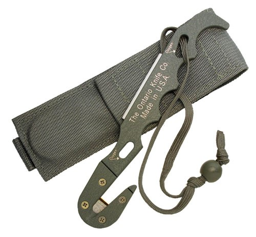 Ontario Knife Company OKC FG Model 1-Strap Cutter with Sheath
