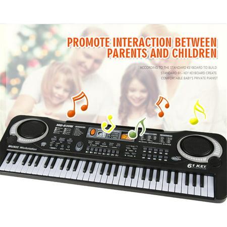 Digital Organ (Kid's Children 61 Keys Small Music Electronic Digital Keyboard Key Board Electric Organ Piano Toys Gift )