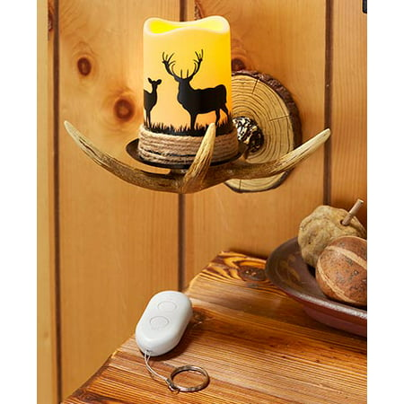 - Remote Control Antler Wall Sconce Deer